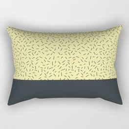Navy little stripes on yellow Rectangular Pillow
