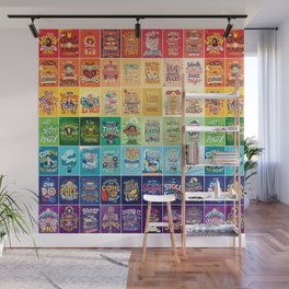 Rainbow of Posters Wall Mural
