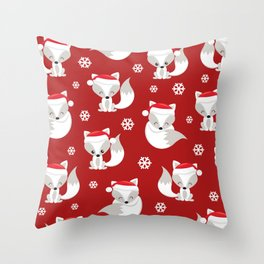 THE SPELL OF THE CHRISTMAS FOXES Throw Pillow