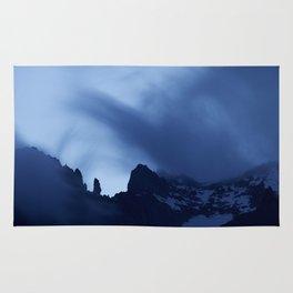 Mont Blanc Massif at night Rug