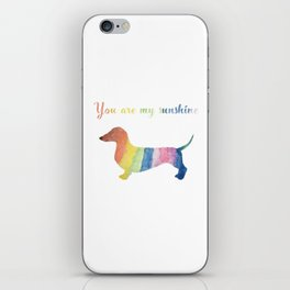 You are my sunshine dachshund iPhone Skin