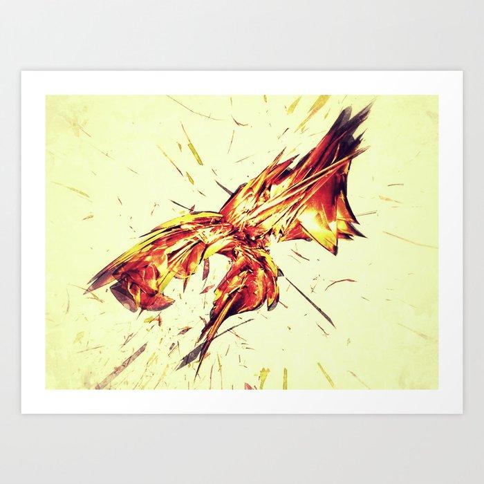 ABSTRALAVA Art Print