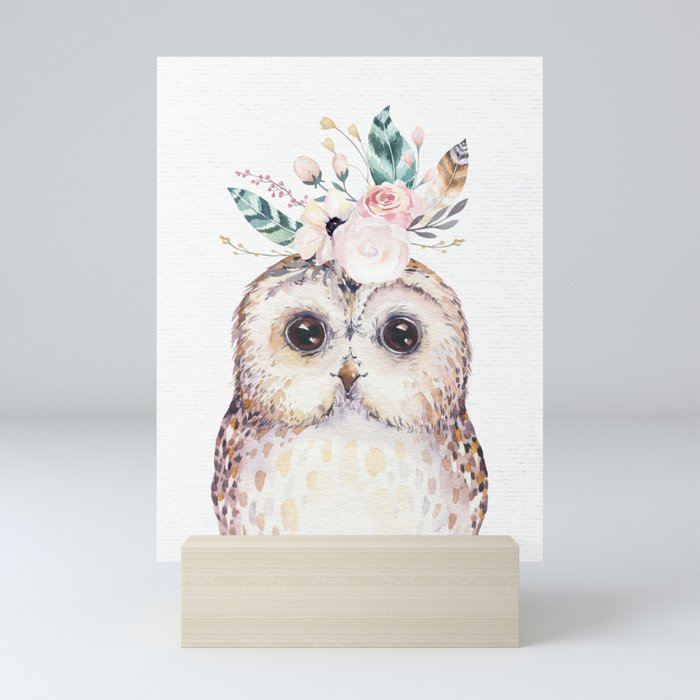 Forest Owl by Nature Magick Mini Art Print