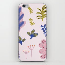 Abstract Plant Print iPhone Skin