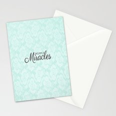 I believe in Miracles Blue Lace  Stationery Cards