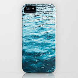 darken water with colorful reflections iPhone Case