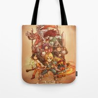 final fantasy Tote Bags featuring Final Fantasy IX by Dice