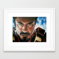 ironman Framed Art Prints featuring Ironman by Lyneth Morgan