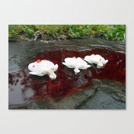 White Hearts Bleeding Canvas Print