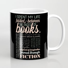 Folded Between the Pages of Books - Pastel Coffee Mug