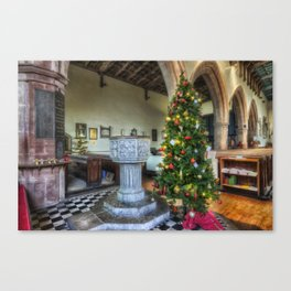 Church at Christmas Canvas Print
