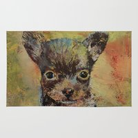 chihuahua Area & Throw Rugs featuring Chihuahua by Michael Creese