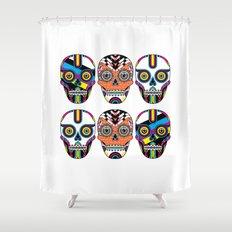 3 Skulls Shower Curtain