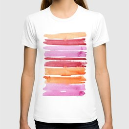 Summer stripes in pink and orange T-shirt