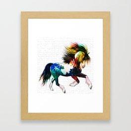 LATAM HORSE Framed Art Print