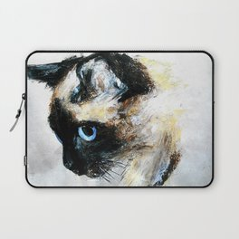 Siamese Cat Acrylic Painting Laptop Sleeve