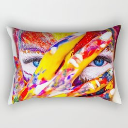 Digital Painting Art   colors   HD Designs Rectangular Pillow