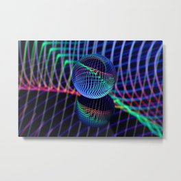 Swirls and lines in the glass ball Metal Print