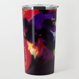 A Ball in the Mouth Travel Mug