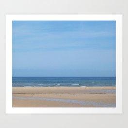 Tracks at Normandy Beach Art Print