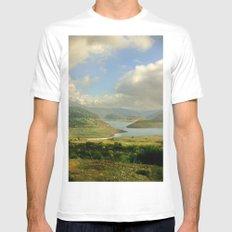 Alpine Ranges White MEDIUM Mens Fitted Tee