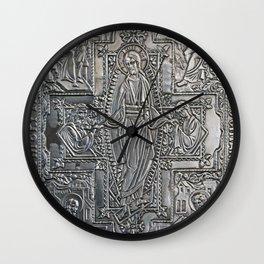 silver religious book cover Wall Clock