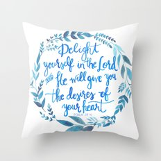 Psalm 37:4 Throw Pillow