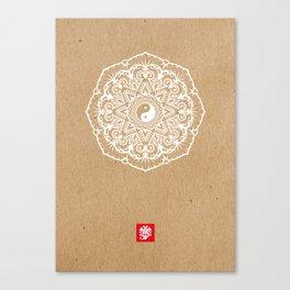 Taoist Mandala Kraft Canvas Print