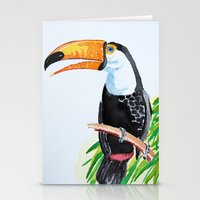 toucan Stationery Cards featuring Toucan by The Traveling Catburys