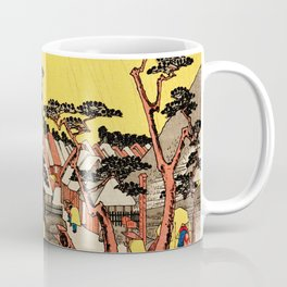 Rain Storm at Oiso Japan - Woodblock Coffee Mug