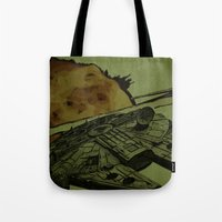 return Tote Bags featuring Return by Stuckey