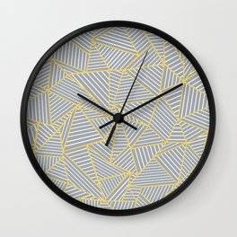 Ab Outline Gold and Grey Wall Clock