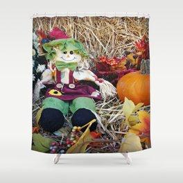 Little Miss Scarecrow Shower Curtain