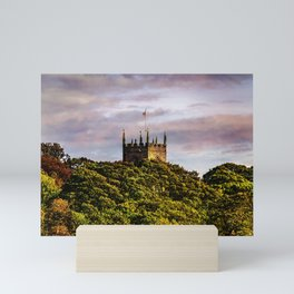 Harthill church in autumn light Mini Art Print