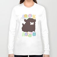 alpaca Long Sleeve T-shirts featuring Little alpaca by Lady Cibia