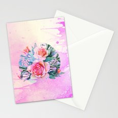 bouquet and watercolors Stationery Cards