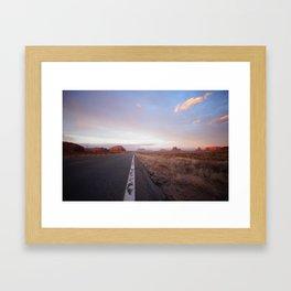 Down the road - Monument Vallet Framed Art Print