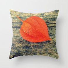 Orange Fall Throw Pillow