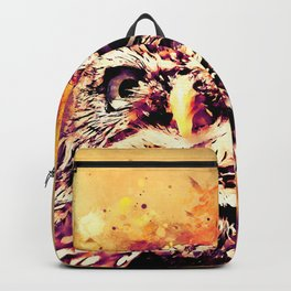owl portrait 5 wslsh Backpack