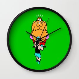 Punch Out King Hippo Wall Clock