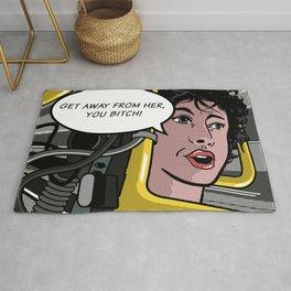 Ellen Ripley in Aliens as Roy Lichtenstein's Pop Art Rug