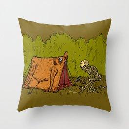 Skin Tent Throw Pillow