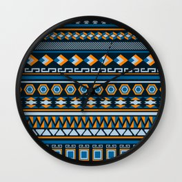 Geometric Northwest Pattern Wall Clock