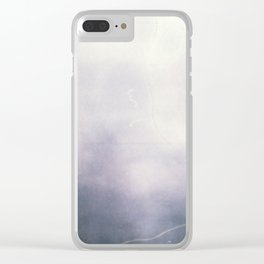 Misty Abstract Clear iPhone Case
