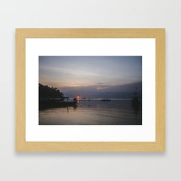 Sunset, Koh Phangan Framed Art Print