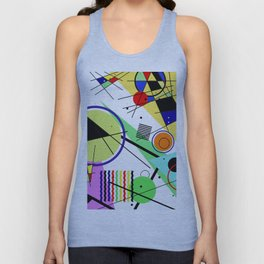 Retro Crazy - Abstract, random, crazy, geometric, colourful artwork Unisex Tank Top