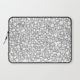 Graphic Geometric Black and White Minimalist Print Laptop Sleeve