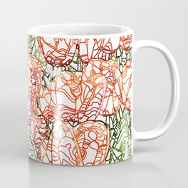 Tulip Garden #drawing #nature Coffee Mug