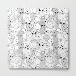 Black and white kittens Metal Print