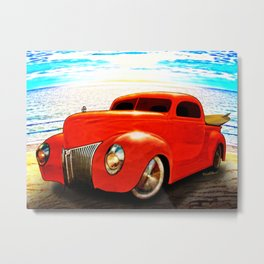 Surfin Forty Ford Pickup Metal Print